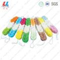 Colorful Loofah Foam Bath Belt Sponge