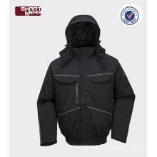 wasserdicht und atmungsaktiv Herren Winter Bomberjacke Sicherheit Arbeitskleidung Jacke mit reflektierendem Rohr