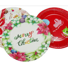 christmas kids cute paper plate plate design