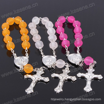 High Quality Rose Plastic Religious Chaplet