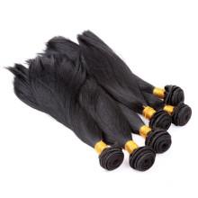 Cabelo virgem peruano não processado das extensões do cabelo 6a