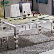 Modern Dining Table Set Wood Metal Hotel Banquet Wedding Dining Table Set