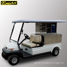 Elektrischer Golfwagen-Nahrungsmittelwagen des Gewohnheits-2 Sitzers mit billigem Buggyauto der Fracht für Verkauf