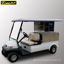 Chariot de nourriture électrique de chariot de golf de coutume de 2 places avec la voiture de buggy bon marché de cargaison à vendre