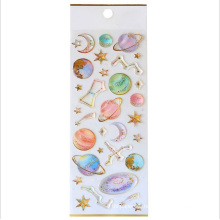 Kawaii Decorative Phone Cartoon Unicorn 3d Crystal Epoxy Resin Sticker