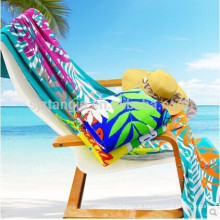 Toalha de praia sólida de alta absorção, toalha de praia de microfibra