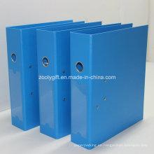 Azul / Negro A4 PP carpeta de archivo arco con Metal Edge Protector y Spine Label bolsillo