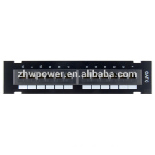 Cat6 UTP 12 Port Wall Mount Type Patch Panel,19'' 1U network patch panel,rj45 network Modular Patch Panel