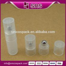 Clear 8ml bouteille en plastique pour crème pour les yeux, fabricants en gros en vrac 3ml 5ml 7ml 8ml rouleau rechargeable en plastique sur bouteille