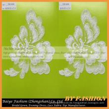 Hochwertige afrikanische Guipure Spitze Gewebe Polyester Spitze Blumen Stickerei Französisch Spitze CM184B
