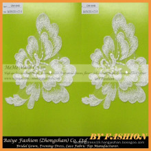 High Quality African Guipure Lace Fabric Polyester Lace Flower Embroidery French Lace CM184B