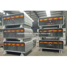 Barrera de control de muchedumbre de metal personalizada, barricadas portátiles, barreras para peatones