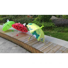 Animal design panel china wholesale safety manual open frog-shape kids umbrella with children