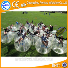 Clear glass bubble ball inflatable body bumper ball prices