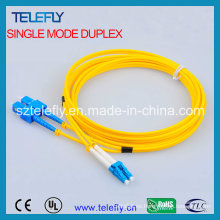 Sc-LC cable de fibra óptica de remiendo, cable de fibra óptica de remiendo