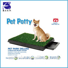 "pet accessory puppy grass mat 20*25"" PE+PP material pet dog training pads with best price"