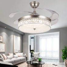 Best Price Modern Simple 4 PC Blade Acrylic Lamp Remote Control Motor Plastic Ceiling Fan With LED Light
