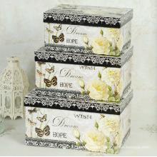 Elegant Design Printing Cardboard Paper Storage Boxes Set