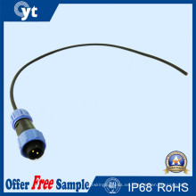 Conector de cable macho IP67 impermeable M8 2pin LED