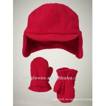 Fleece Cap und Handschuhe für Kinder
