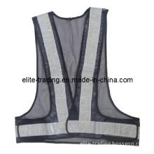 Black Traffic Reflective Security Vest