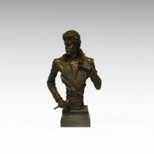 Bustes Laiton Statue Michael Jackson Décor Bronze Sculpture Tpy-899