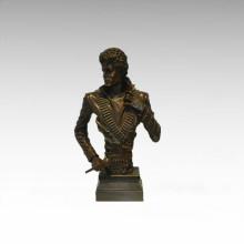 Bustos estátua de bronze Michael Jackson decoração escultura de bronze Tpy-899