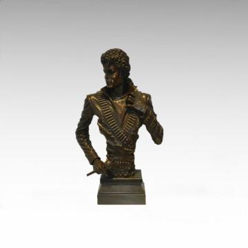 Busts Brass Statue Michael Jackson Decor Bronze Sculpture Tpy-899