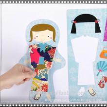 wholesale kiss cut die cut magnetic dressup toy fridge magnet