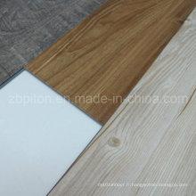 Plancher de vinyle de luxe de regard en bois de PVC