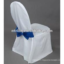 Housses de chaises de polyester de 100 % avec auto attache ceinture arrière