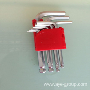 9pcs Ball Point HEX KEY Short Allen Wrench