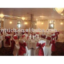 couverture de 100 % de polyester chaise, chaise d'hôtel/Banquet/mariage couvre