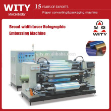 Hologramme large largeur Embossing Making Machine