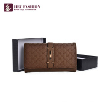 HEC Brand Fashion Portefeuille en cuir PU Multicolore Portefeuille pour femme