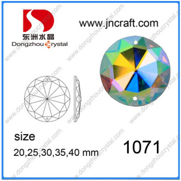 Ab Color Round Flat Back Stones with or Not Holes