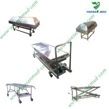 Crémaillère mortuaire médicale en acier inoxydable Crémaillère mortuaire en acier inoxydable