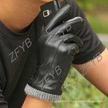 Gant tactile en cuir, gant homme pour écran tactile pour iphone