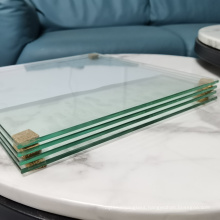 custom size  clear heat strengthened half tempered semi toughened building glass panel supplier price