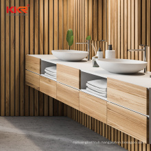 Solid Wood american style bathroom furniture solid surface cabinet basin