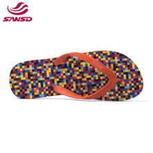 2021 Factory direct sell summer orange lightweight anti slip beach slipper eva women flip flop
