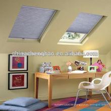 China venta caliente cortina de panal, doble ventana de vidrio ciega