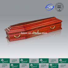 LUXES venda quente italiano Popular caixão de madeira