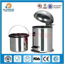 201 stainless steel pedal dustbin