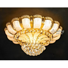 Traditional Suspended Flush Mounted K9 Crystal Ceiling Light Design