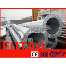 220kv polo de transmisión de energía galvanizado, tubo de torre de acero tubular eléctrico