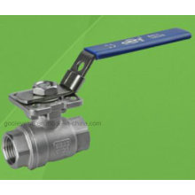 Robinet à boisseau sphérique 2 PC 1000 Psi avec tampon de montage direct ISO 5210/5211 (Q11F)