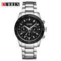 Curren Quartz Stainless Steel Men Casual Relógios