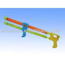 Duplo tubo de pistola de água atirador, atirador de água de plástico, água atirador brinquedo-914063498