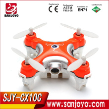 Cheerson mini uav CX-10C Nano drone 2.4G 4CH 6 Axis RC tiny Quadcopter with Camera